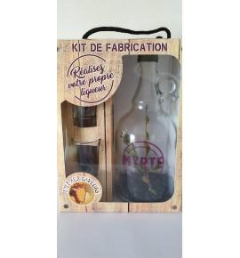 Coffret Kit de fabrication pour liqueur Myrte (1L) avec 2 verres tête de maure