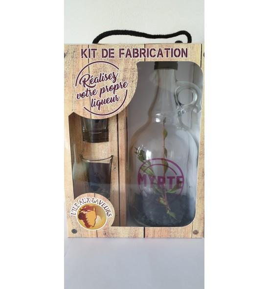 Kit de fabrication pour liqueur Myrte - 2 verres à liqueur tête de maure